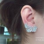 Diamond Earring งานเพชร CZ แท้