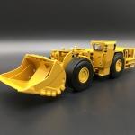 โมเดลรถก่อสร้างเหล็ก CAT R1700G Underground Mining Loader