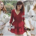 Rosie Layered Lace and Chiffon Mini Dress