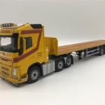 โมเดลรถหัวลาก Volvo FH4 GL 6x2 Flat Bed Trailer 3 Axle Rijksen Transport