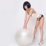 (พร้อมส่ง) YK1070 ลูกบอลโยคะสีขาวใส