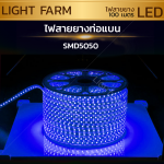 ไฟสายยาง SMD 5050 (100 m.) สีฟ้า (ท่อแบน)