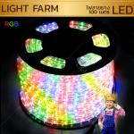 ไฟสายยาง ท่อกลม LED 100 m สีรวม RGB