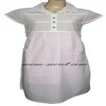 ชุดกระโปรงคลุมท้อง (D-100) ผ้ายอ-ยู่ สีชมพู
