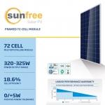 แผงโซล่าเซลล์ Solar Cell 325W Poly (Sunfree)
