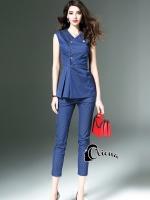 เสื้อผ้าแฟชั่นพร้อมส่ง Denim Blue Luxury Set