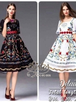 Cute Vintage Fashion Long dress Style Lady Lilly