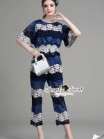 Layer Saphire&Vintage Blue Lace Set