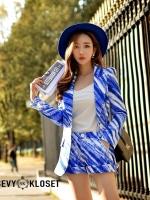 เสื้อผ้าเกาหลีพร้อมส่ง เซทเสื้อสูทแขนยาวคอปก