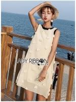 Anna Pom-Pom Embroidered Linen Dress