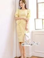 Minidress Yellow Sweet Desses Sleeveless Sweater