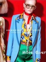 เสื้อผ้าเกาหลีพร้อมส่ง เชิตผ้าซิลซาติน แบรนด์ Gucci