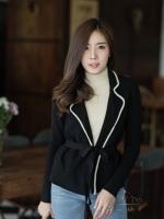 เสื้อผ้าแฟชั่นพร้อมส่ง งานดีไซน์แนวเกาหลี ใช้ผ้าไหมพรม