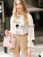 เสื้อผ้าแฟชั่นพร้อมส่ง งานเซ็ทลุคสาวย้อนยุคสวยหรูดูแพงมากคะ