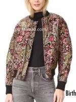 เสื้อผ้าเกาหลีพร้อมส่ง เสื้อแจ็กแกตZara งานผ้าทอนูนลายดอก