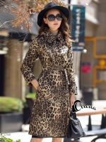 เสื้อผ้าแฟชั่นเกาหลีพร้อมส่ง แม็กซี่เดรสลายเสือ