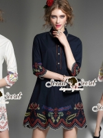 Bloomly Bloom Perforate Tail Dress