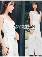 Lily Casual Basic Pure Basic Laser-Cut Jumpsuit
