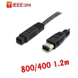 สายแปลง IEEE firewire1394 800ไป400 6Pหัวใหญ่ 1.2m ใช้กับMAC MACBOOK