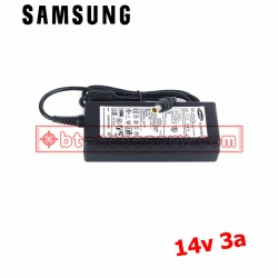 Samsung AC adapter ที่ชาร์จจอ LCD 14v3a หัวเข็ม-black