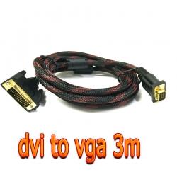 สายจอ DVI 24+5 to vga ยาว3m สายถัก