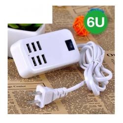 adapter ที่ชาร์จ iphone ipad Smartphone มีusb 6ช่อง 30W