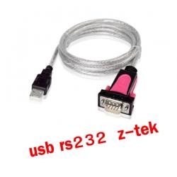 Z-TEK usb 2.0 to RS232 9p com1 cable 1.8m แท้