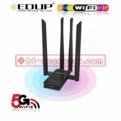 EDUP ตัวรับสัญญาณwifi USB 3.0 802.11AC DUAL BAND WIFI WITH FOUR 6DBI ANTENNAS EP-AC1621