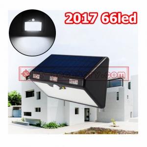 Solar light IP65 ไฟติดผนังพลังงานแสงอาทิตย์ 66 LED + Motion Sensor 4800mah 3โหมดทำงานตัวใหญ่สว่างมาก