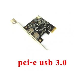 card pci-Express usb 3.0 2port เพิ่มusb -green