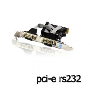 card pci-Express serial rs232 com port -black