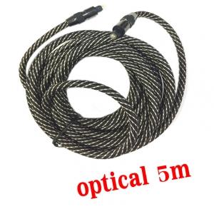 สาย เสียง Optical Fiber สายถักอย่างดี 5.1 7.1 ยาว5m