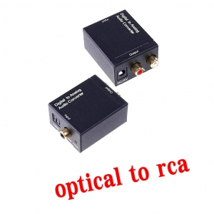 Coaxial and Optical to rca L R 2.1 converter