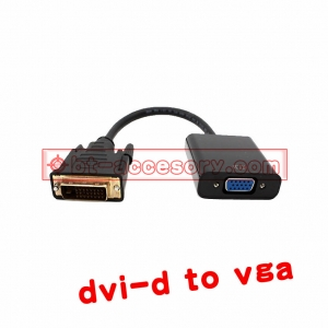 DVI-D 24+1 to vga monitor converter cable มีชิปในตัว