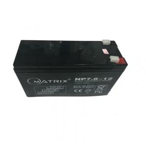 แบตเตอรี่ MATRIX UPS ขนาด 12V 7.8A ใช้กับเครื่องสำรองไฟ