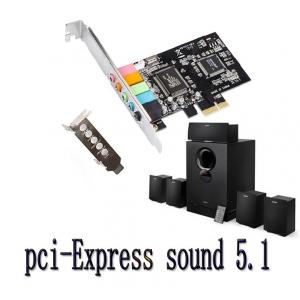 DIEWU PCI-Express 6channel sound card 5.1 ใช้กับเคทเล๊กได้
