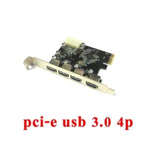 card pci-Express usb 3.0 4port เพิ่มusb -green