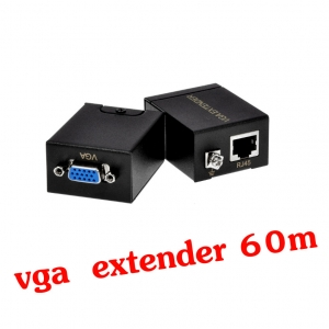 ตัวแปลงสัญญาณ VGA extender 60m ต่อผ่านสายlan