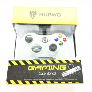 NUBWO NJ29 จอยเกมส์ ใช้กับ XBOX 360 pc notebook - white