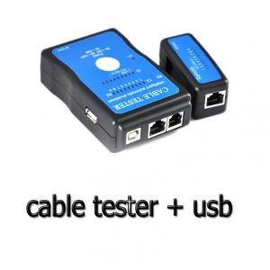 เครื่องเช็คสายlan Network Cable Tester RJ45 RJ11 RJ15 USB print