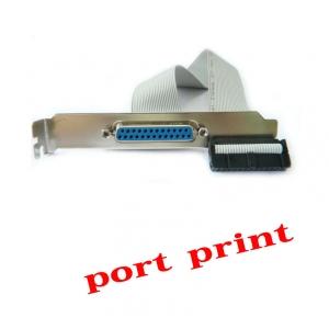 Parallel LPT Printer port เสียบกับเมนบอร์ดคอมพิวเตอร์ -Gray