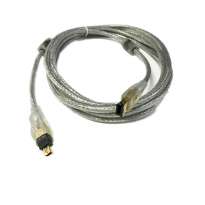 สายแปลง IEEE firewire1394 6P/4P หันใหญ่ไปหัวเล็ก 1.8m
