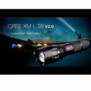 ultrafire LED CREE XML T6 ไฟฉายความสว่างสูง LED CREE XML T6 5 โหมด Flashlight