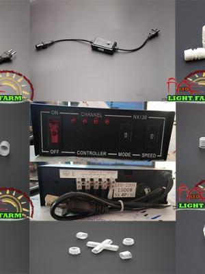 อุปกรณ์ต่อไฟสายยาง ท่อกลม LED
