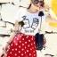 ( พร้อมส่ง) Set Perfume Print Chanel Style Diamond Fernish Top match with Dotty Red Skirt by Seoul Secret thumbnail 3