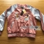 Cathy Sporty Feminine Embroidered Pink Bomber Jacket thumbnail 7
