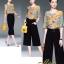 เสื้อผ้าเกาหลีพร้อมส่งชุด Set 2 ชิ้น เสื้อคอกลม แขนระบาย+กางเกงขายาว 9 ส่วน thumbnail 7