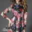 colorful rose printed long sleeve maxi dress thumbnail 4