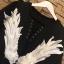 เสื้อผ้าแฟชั่นพร้อมส่ง เสื้อฺปักปีกนกสีขาวแซมมุข thumbnail 7