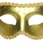 หน้ากากแฟนซีปาร์ตี้ขอบลูกไม้ ทอง